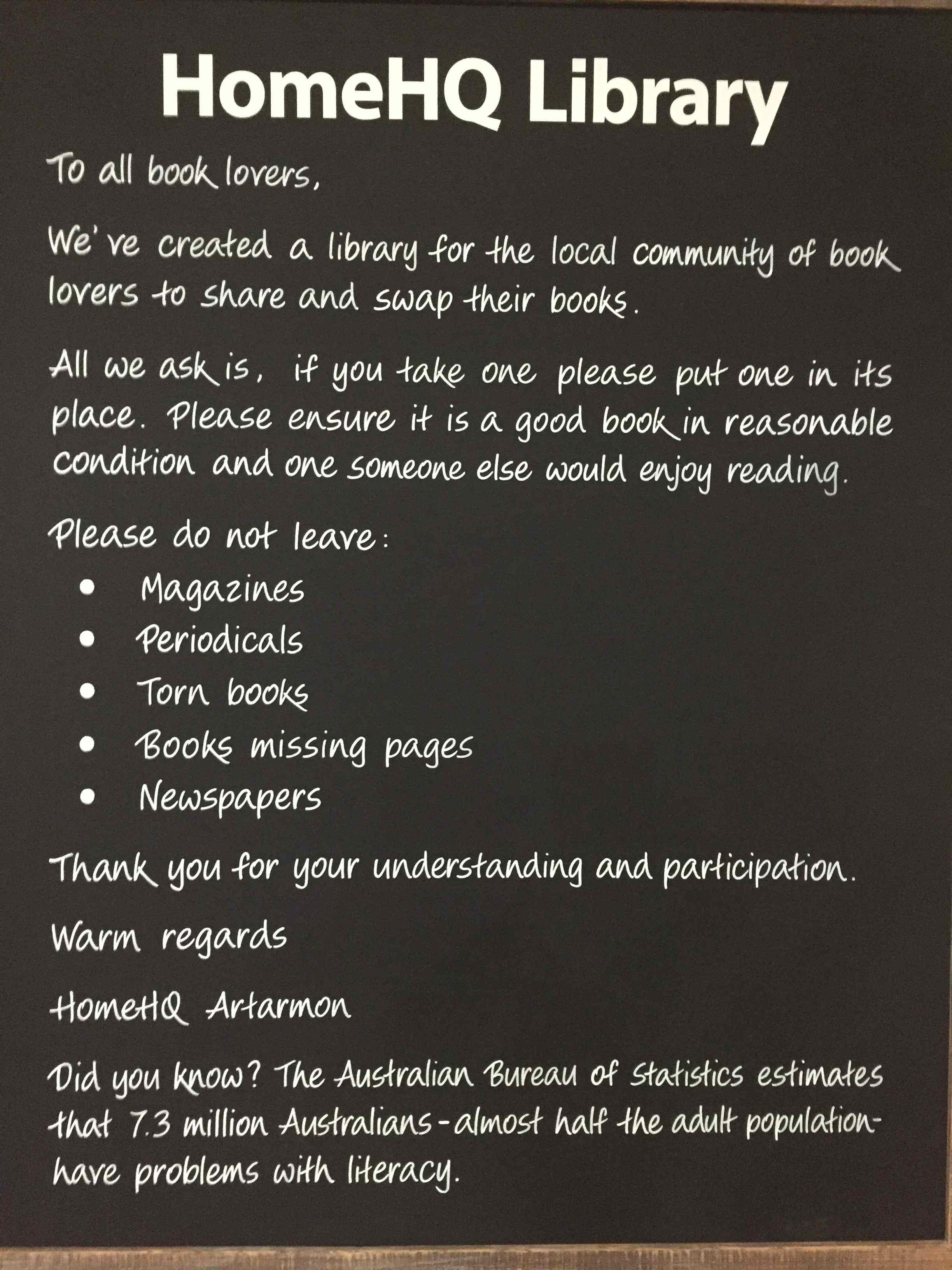 Home HQ Artarmon Library