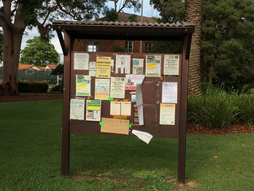 notice board longueville