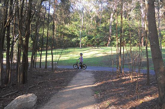 Lane Cove Bike Track in Blackman Park Lane Cove