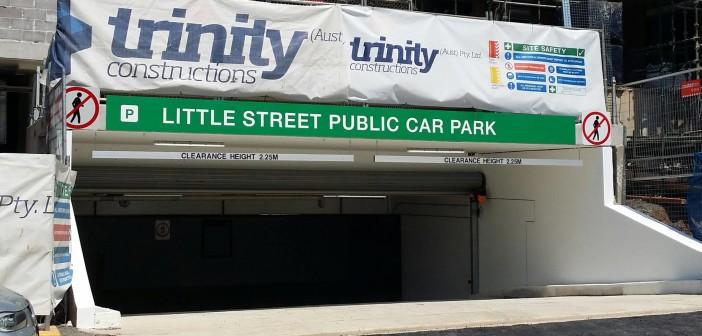 little street car park entrance