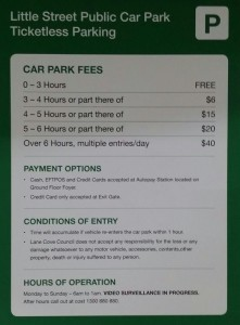 little street car park fees
