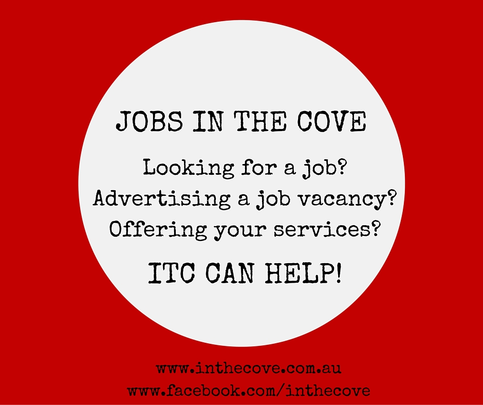 jobs in the cove