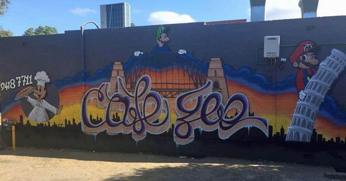 cafe geo graffiti